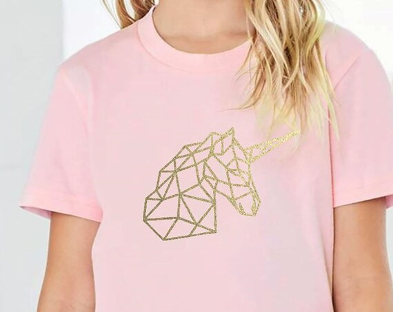 Modern Geometric Unicorn Shirt // Youth Sizes // More colors available