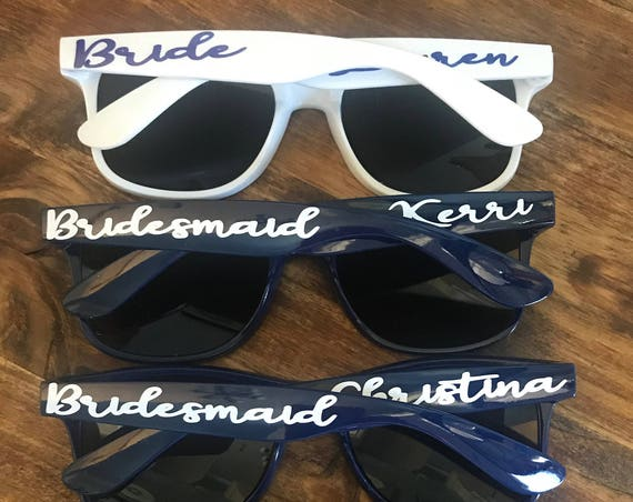 Personalized Sunglasses, Wedding Party, Bachelorette Party, Wedding Favors, Girls Weekend