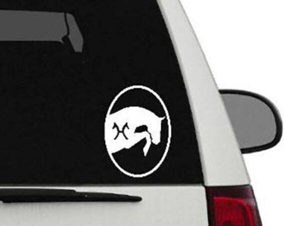 Oval Hanoverian Warmblood Custom Vinyl Sticker