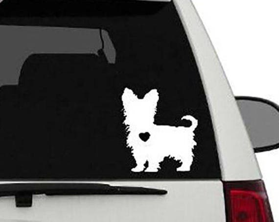 Yorkie Vinyl Car Decal//Yorkie Love//Yorkshire Terrier
