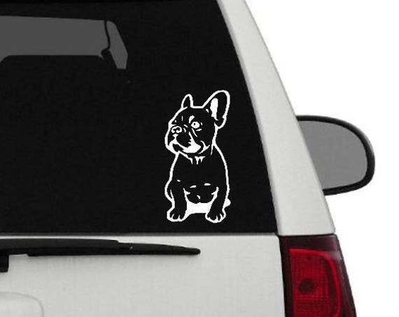 French Bulldog Vinyl Sticker     Frenchie Decal     Frenchie Love     Frenchie Sitting ROSE GOLD now available too!