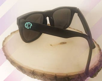 Personalized Sunglasses, Monogrammed Sunglasses, Wayfarer Sunglasses