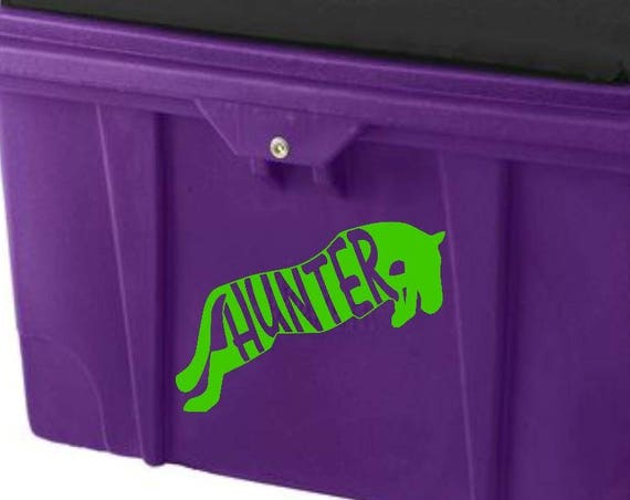 Hunter Decal for Tack Trunk, Car, Yeti, Cooler, you name it!!