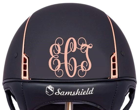Equestrian Helmet Monogram Personalized Decal