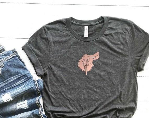 Equestrian Saddle Long or Short Sleeve Shirt // Hunter/jumper