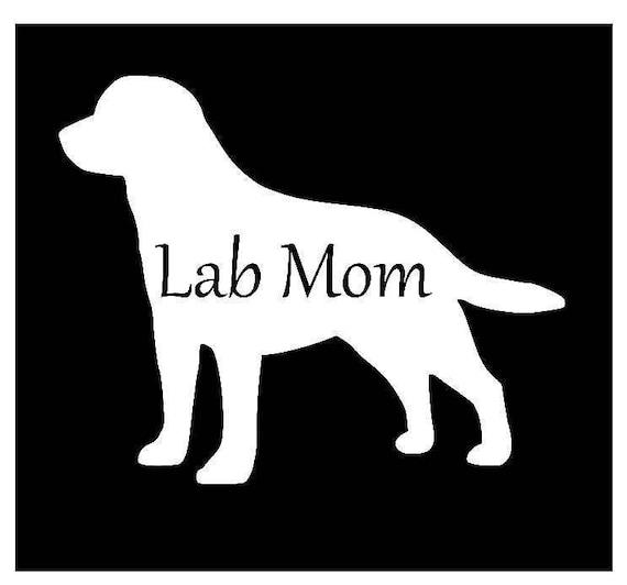 Labrador Retriever Vinyl Sticker ROSE GOLD now available too!