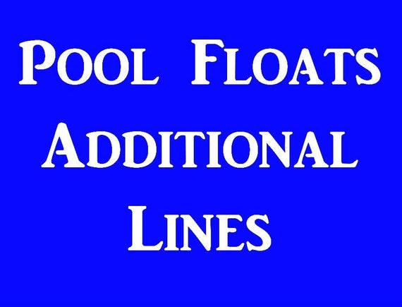 Additional Lines for Pool Floats