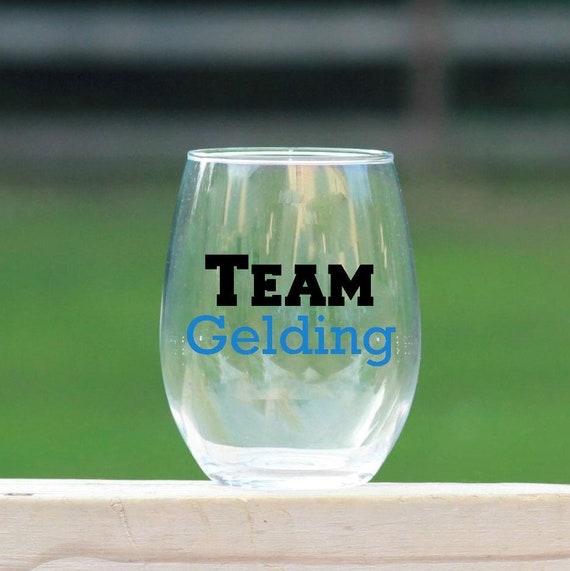 Team Gelding Wine Glass //  Horse Wine Glass