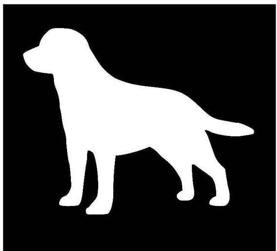 Labrador Retriever Vinyl Sticker lots of designs to choose from!