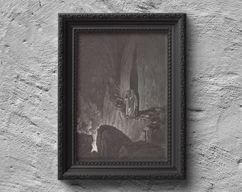 Dante Alighieri, The Vision of Hell (Inferno) Print,Poster, Wall Art. *Frame is NOT included*
