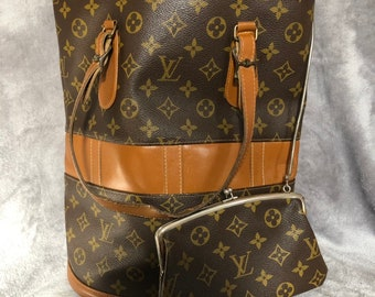a9951f4508 Louis Vuitton Monogram Bucket GM Shoulder Bag USA Model Authentic with pouch  lv vintage rare