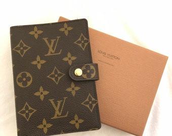 266d6ec2430 Louis Vuitton Monogram Agenda PM Day Planner Cover Authentic LV Vintage  MINT! box
