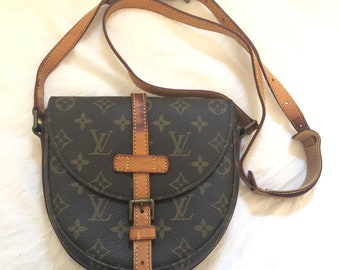 78af228157 Vintage Louis Vuitton borsa a tracolla Chantilly Browns monogramma LV  autentico