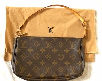 3a048dd2debf Louis Vuitton Authentic Monogram Accessoires Pouch Mini hand Bag Vintage