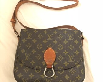 3086ff02af81 Louis Vuitton Authentic Monogram Saint Cloud GM Shoulder Bag lV Vintage  Cross body