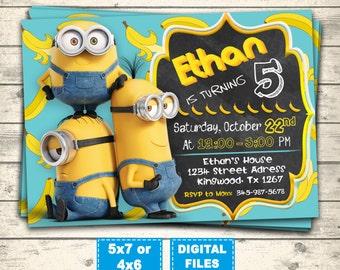 Minion invitation etsy minions invitation minion birthday invitations minions party invite minions birthday minions printable minions digital banana minions stopboris Gallery