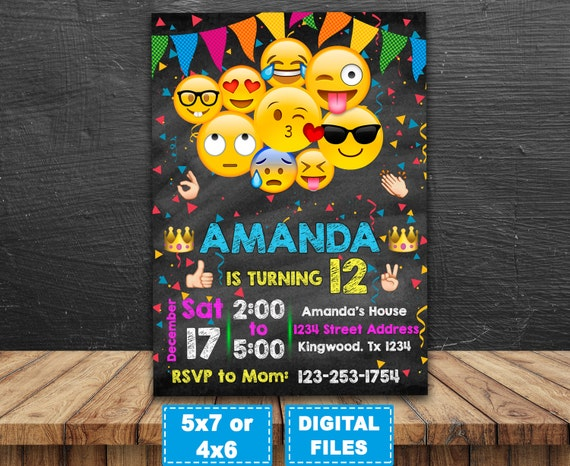 photo regarding Printable Emoji Birthday Invitations identify Emoji invitation, emoji birthday invitation, emoji birthday social gathering, emoji printable, emoji electronic, invite, smile Invitation, emoji card