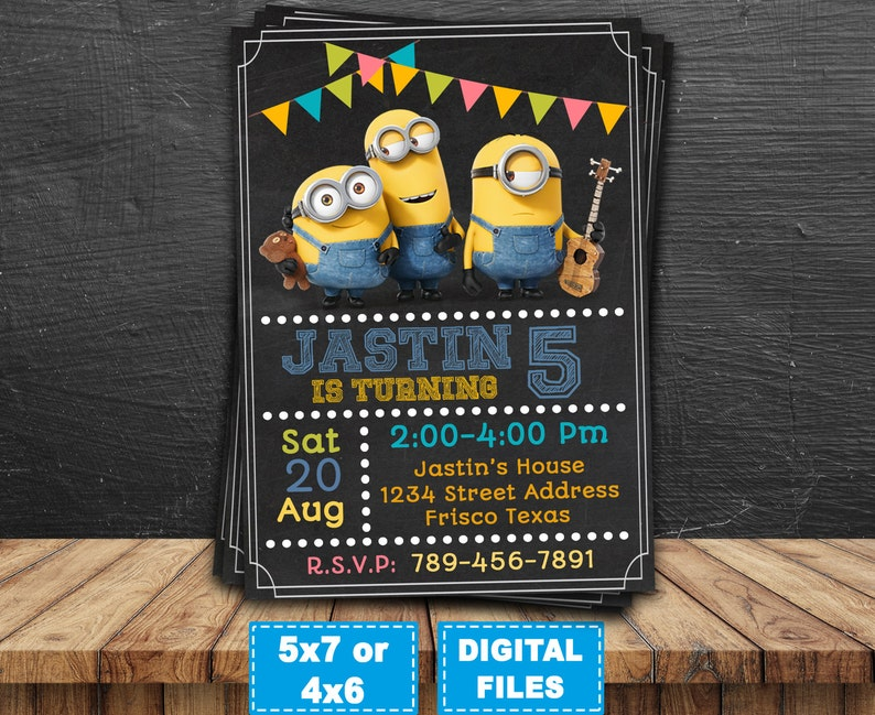 picture relating to Minions Printable Invitations identify Minions invitation, minions printable, minion birthday invites, minions celebration invite, minions birthday, minions electronic, banana minions.