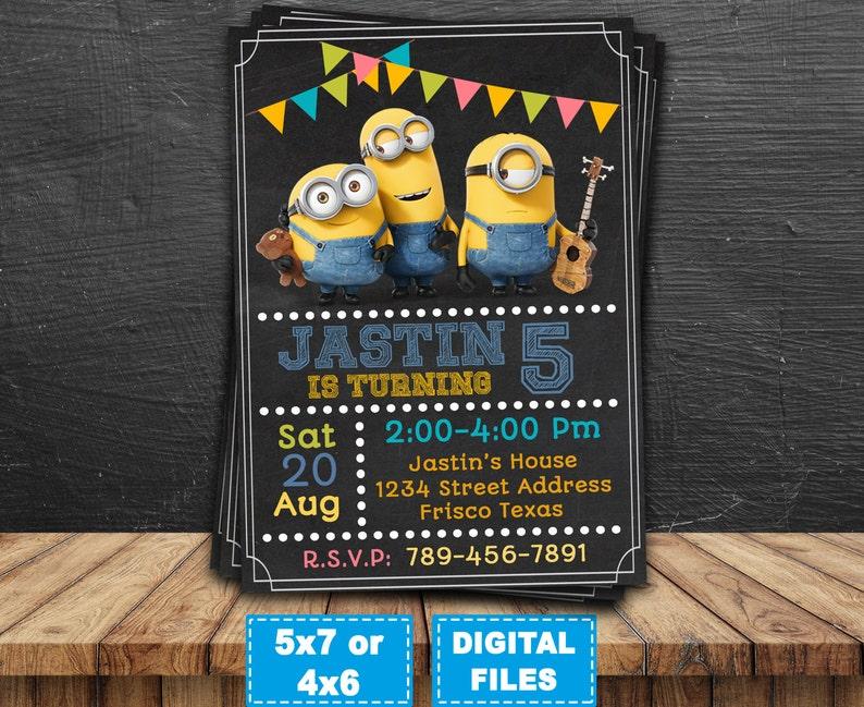 photograph regarding Minions Printable Invitations identified as Minions invitation, minions printable, minion birthday invites, minions occasion invite, minions birthday, minions electronic, banana minions.