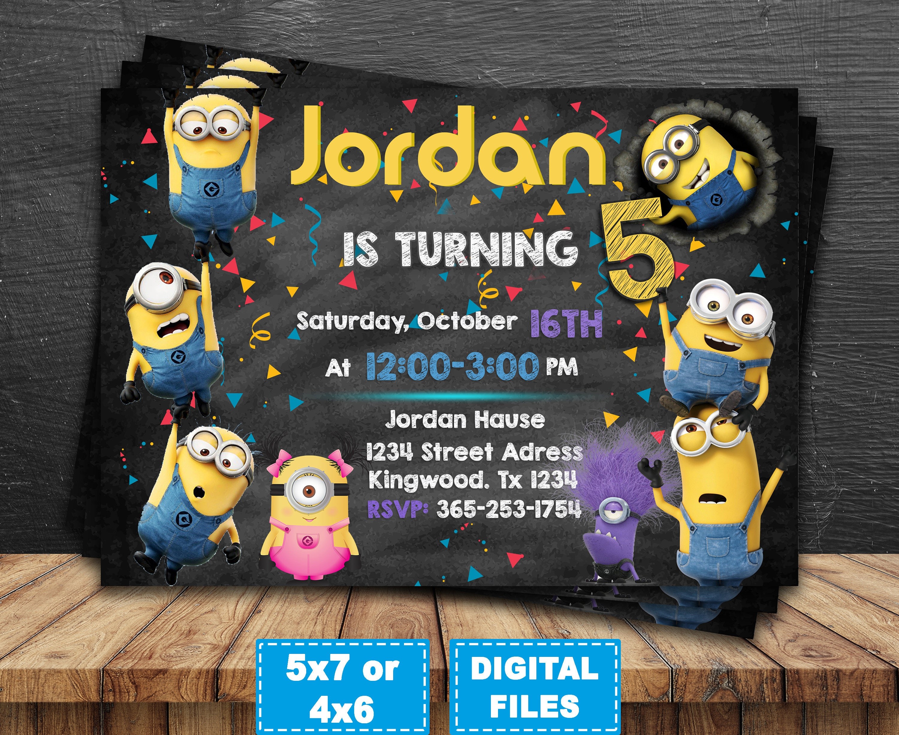 picture regarding Minions Invitations Printable called Minions invitation, minions occasion invite, minions birthday, minion birthday invites, minions electronic, minions printable, banana minions.