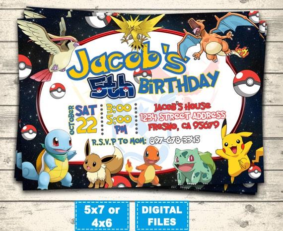 Pokemon Go Invitation Birthday Invitations
