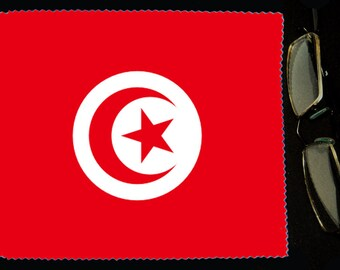 Cloth wipes glasses flag Tunisia