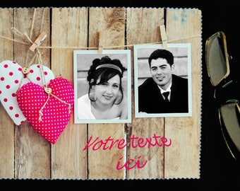 cloth wipes glasses 2 pictures customized for an original photo gift