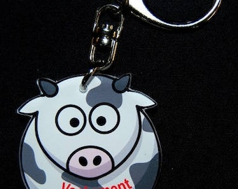 """Keychain cow """"Really nice"""" message"""
