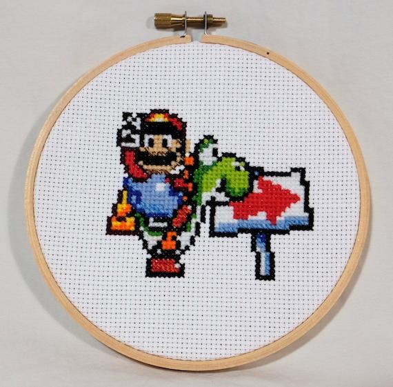 Pose de victoria de Super Mario World en Yoshi   Etsy