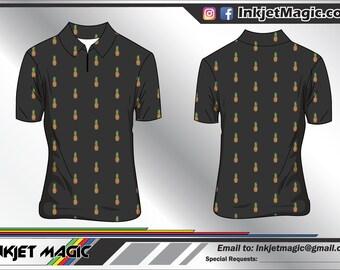 Custom Made Nautical Polo Shirt Sublimation Printed Sewn Etsy