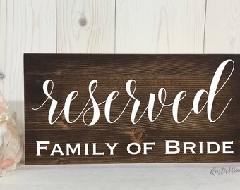 Reserved Sign // Wedding Sign // Rustic Decor // Wood Sign // Wedding Decor// Wedding Reception Sign