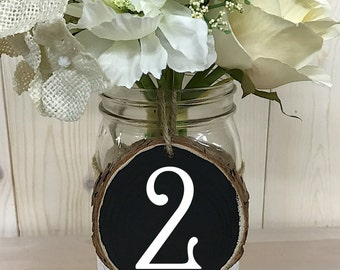 Numéros de table / / numéros de Table de mariage rustique / / numéros de Table en bois / / Decor de mariage / / numéros de Table de mariage / / ronde de numéros de Table