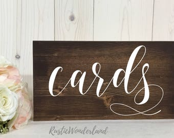 Cards Sign // Wedding Sign // Rustic Decor // Wood Sign // Wedding Decor// Wedding Reception Sign