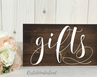 Gifts Sign // Wedding Sign // Rustic Decor // Wood Sign // Wedding Decor// Wedding Reception Sign