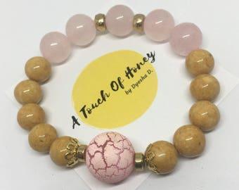 Rose Quartz & Jade Bracelet