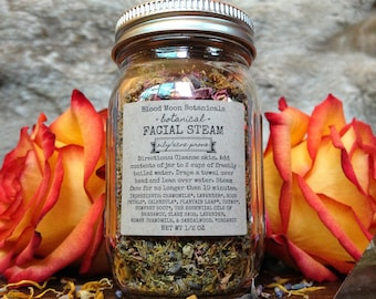 Botanical Facial Steam for Oily and Acne Prone Skin