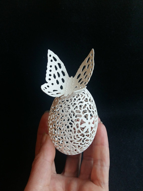 Butterfly Chicken Egg Ornament