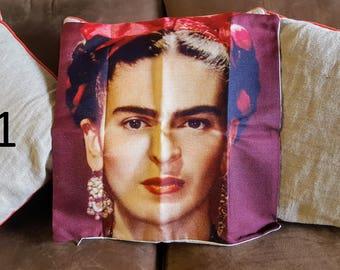 Frida Kahlo Cotton Linen Cushion Cover