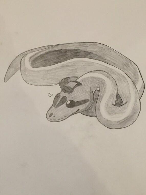 Ähnliche Artikel wie Schlange-Bleistift-Skizze auf Etsy