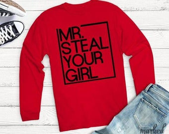 ce6337137 Mr. Steal Your Girl Kids Valentines Day shirt