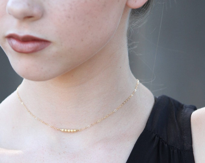 Gold Choker, Gold Dainty Choker, Modern Layering choker, Gold Layering Necklace, Dainty Gold Necklace, Minimalist Choker, Gold Necklace