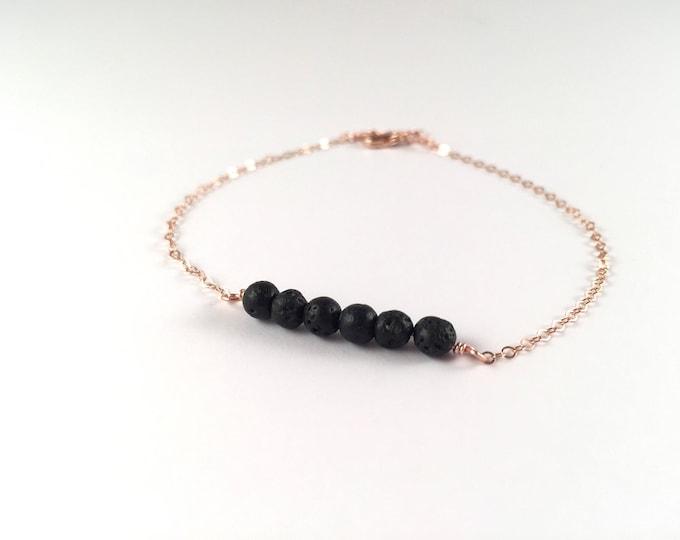 Nia, Essential oil bracelet, Dainty diffuser bracelet, lava bead bracelet, diffuser bracelet, lava bracelet, dainty bracelet, diffuser