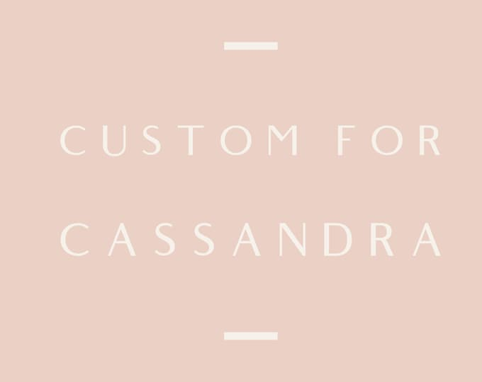 Reserved for Cassandra, Custom chain necklace