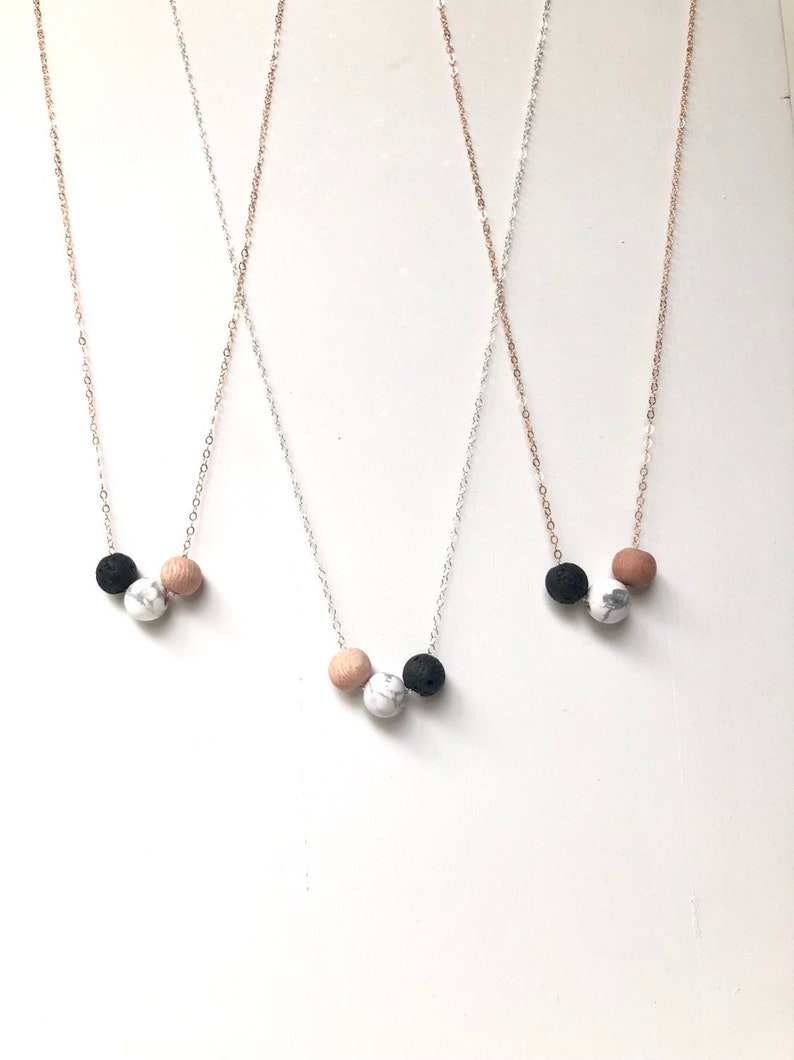 lava rock essential oil jewelry sterling silver wood essential oil diffuser jewelry rose gold Wood lava and marble diffuser necklace