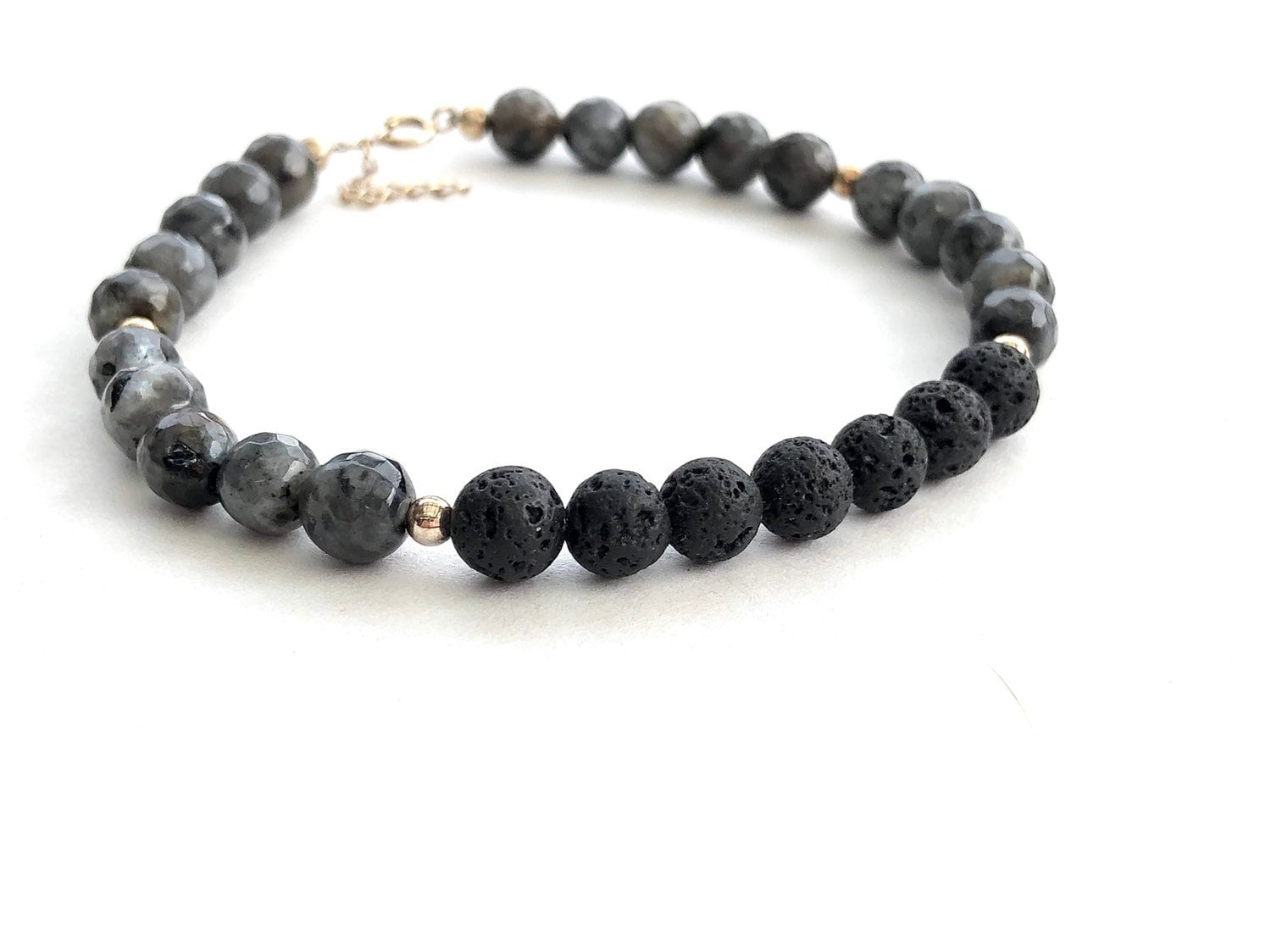 Essential Oil Lava Stone Diffusing Bracelet Aromatherapy Jewellery With Gems. Natural & Alternative Remedies Health & Beauty
