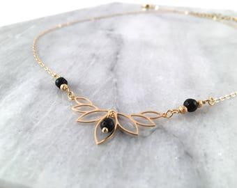 Stellar Gold diffuser necklace silver diffuser necklace lotus diffuser eo lava bead necklace diffuser jewelry lava diffuser necklace gift