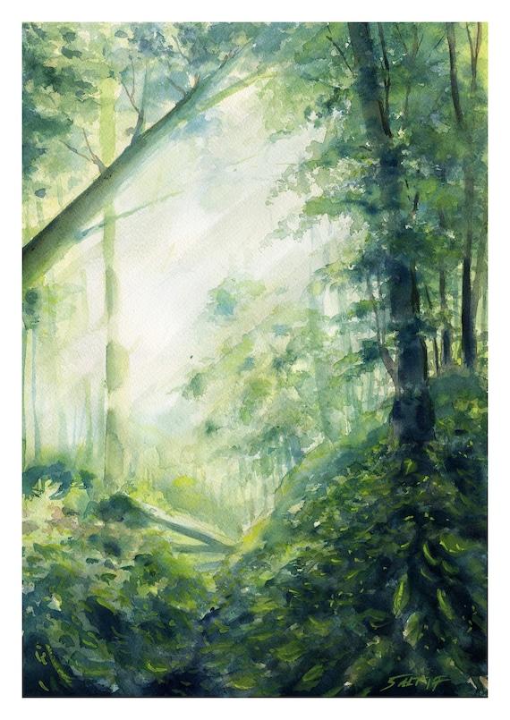 Download Forest Background Dreamy Landscape Mobile Phone Etsy