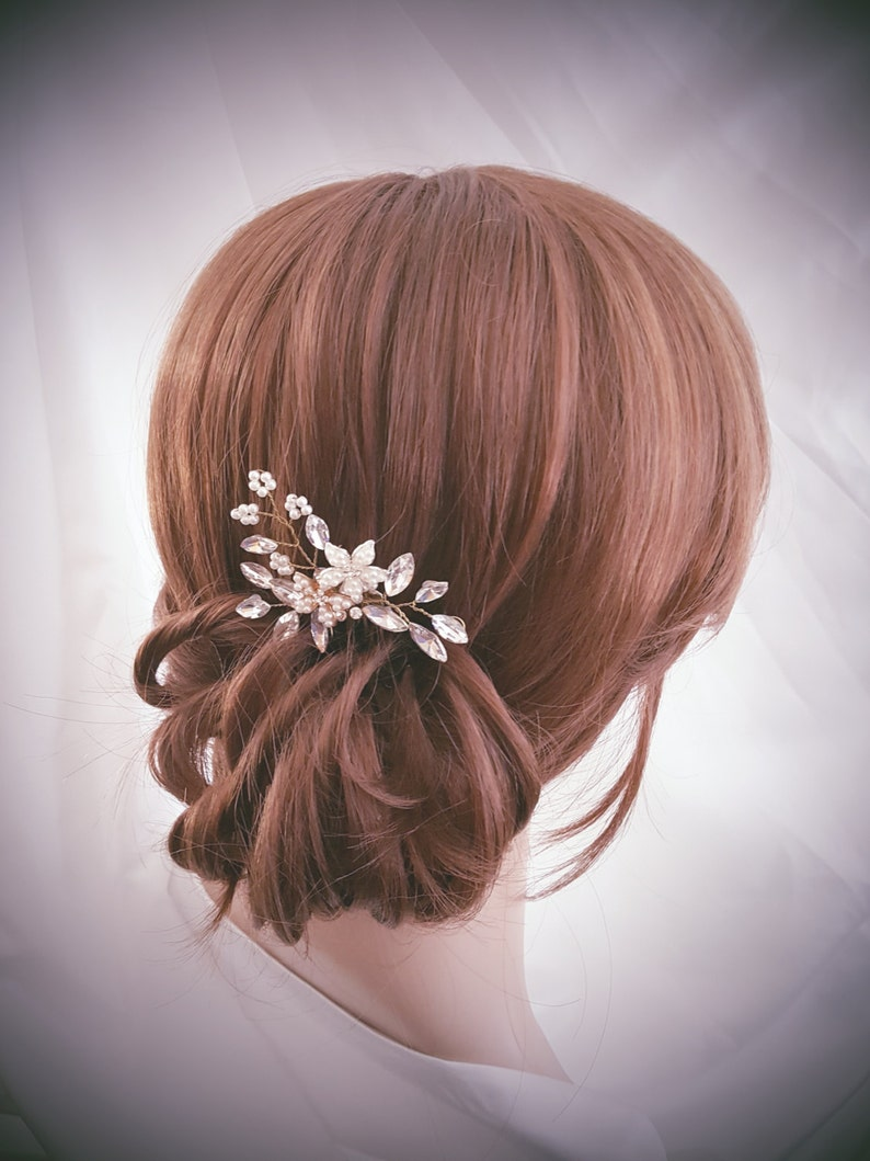 Bridal Hair Comb Crystal Hair Comb Wedding Hair Accessories image 0