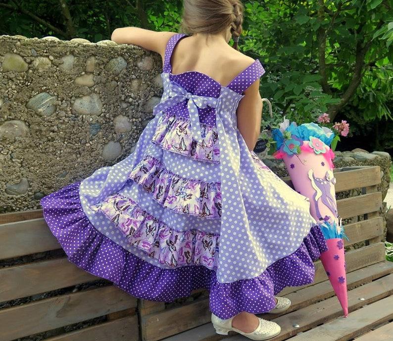 Summer dress in wish fabric festive dress FELIZ