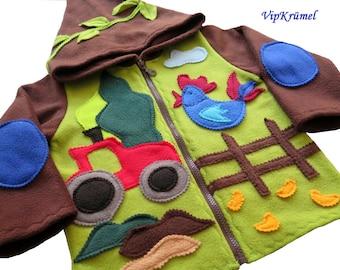 Zip jacket, farm jacket